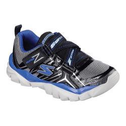 Boys' Skechers Electronz Z Strap Sneaker Black/Royal