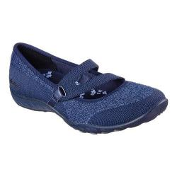 Women's Skechers Relaxed Fit Breathe Easy Lucky Lady Mary Jane Navy