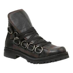 Men's GBX Scully Ankle Boot Black Leather/Black Oiled Suede