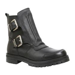 Men's GBX Shaed Double Buckle Ankle Boot Black Leather