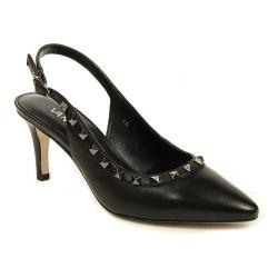 Women's VANELi Harriet Slingback Black Nappa/Gunmetal Trim