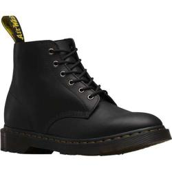 Dr. Martens Ali 6 Eye Boot Black Greasy Leather