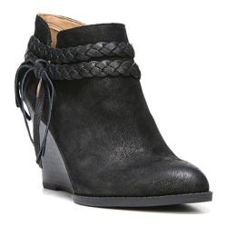 Women's Franco Sarto Loni Wedge Bootie Black Ranch Leather