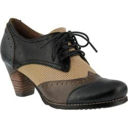 Women's L'Artiste by Spring Step Bardot Lace Up Navy Multi Leather