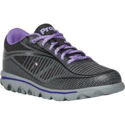 Women's Propet Billie Lace Walking Shoe Black/Purple Mesh