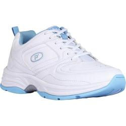 Women's Propet Eden White/Powder Blue Leather/Polyurethane