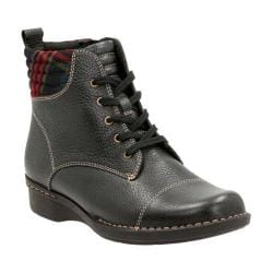 Women's Clarks Whistle Bea Ankle Boot Black Tumbled Cow Full Grain Leather