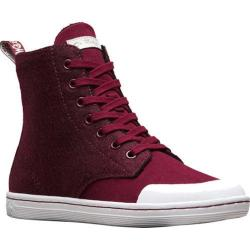 Women's Dr. Martens Hackney II 7 Eye Boot Wine Fine Canvas