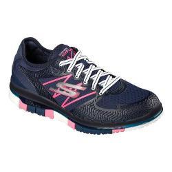Women's Skechers GO FLEX Walk Momentum Walking Shoe Navy/Hot Pink