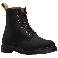 Men's Dr. Martens 1460 8 Eye Canvas Boot Black/Tan 12oz Waxy Canvas/New Laredo