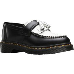 Women's Dr. Martens Adrian Tassel Loafer Black/White Smooth Leather