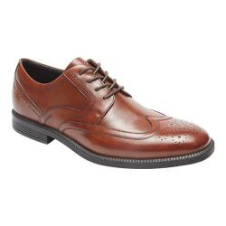 Men's Rockport Dressports Business Wing Tip Oxford New Brown Leather 19690671