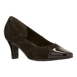 Women's Rose Petals by Walking Cradles Race Black Textured Teardrop/Black Patent