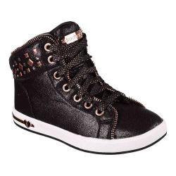 Girls' Skechers Shoutouts Zipsters High Top Black/Rose Gold