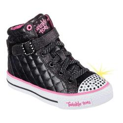 Girls' Skechers Twinkle Toes Shuffles Sweetheart Sole High Top Black/Multi