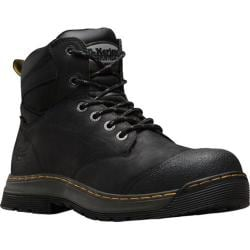 Men's Dr. Martens Deluge Waterproof EH Safety Toe 6 Eye Boot Black Overlord Waterproof