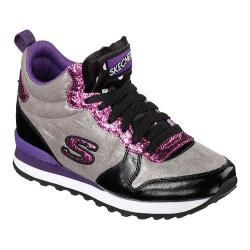Women's Skechers Retros OG 85 Glitter Girl High Top Black/Purple/Pink