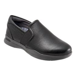 Women's SoftWalk Vantage Premium Slip On Black Nappa Tumbled Leather/Grey Sole
