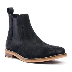 Men's Crevo Denham Chelsea Boot Black Suede