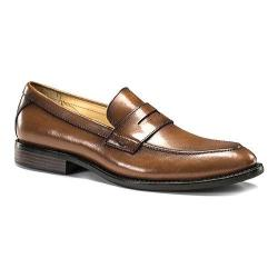 Men's Dockers Manchester Penny Loafer British Tan Burnished Full Grain Leather
