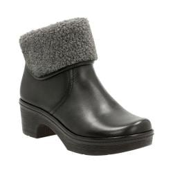 Women's Clarks Preslet Pierce Fur Boot Black Cow Full Grain Leather