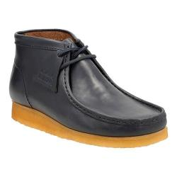 Men's Clarks Wallabee Boot Petrol Blue Leather