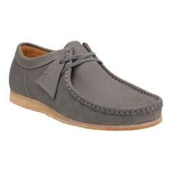 Men's Clarks Wallabee Step Moc Toe Shoe Grey Nubuck