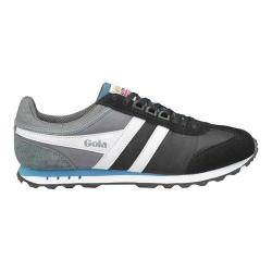 Men's Gola Boston Casual Sneaker Black/Grey/Teal Nylon