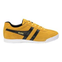 Men's Gola Harrier Suede Sneaker Yellow/Black Suede
