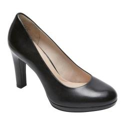 Women's Rockport Seven To 7 Ally Plain Pump Black Burn Calf