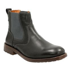 Men's Clarks Faulkner On Chelsea Boot Black Leather