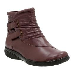 Women's Clarks Kearns Garden Bootie Oxblood Sheep Full Grain Leather