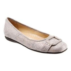 Women's Trotters Sizzle Signature Flat Nude Washed Metallic Microfiber Suede