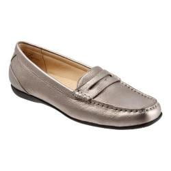 Women's Trotters Staci Moccasin Pewter Leather