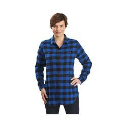 Women's Woolrich Buffalo Check Boyfriend Shirt Cobalt Buffalo