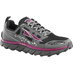 Women's Altra Footwear Lone Peak 3.0 Mid NeoShell Trail Running Shoe Gray/Purple