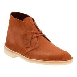 Men's Clarks Desert Boot Dark Tan Suede
