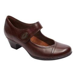 Women's Cobb Hill Abigail Mary Jane Brown Leather