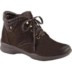 Women's Earth Davana Ankle Boot Dark Brown Soft Buck