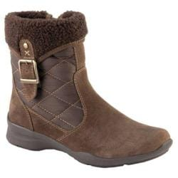 Women's Earth Pinnacle Zip-Up Boot Chestnut Brown Suede