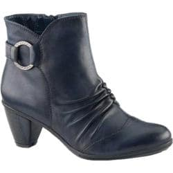 Women's Earth Topaz Ankle Bootie Navy Soft Calf