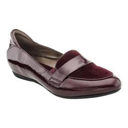 Women's Earthies Bremen Penny Loafer Burgundy Crinkle Patent