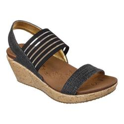 Women's Skechers Beverlee Smitten Kitten Wedge Sandal Black