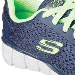 Boys' Skechers Equalizer 2.0 Settle the Score Sneaker Navy/Lime
