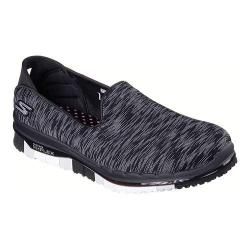 Women's Skechers GO FLEX Walk Ability Slip On Walking Shoe Black/White