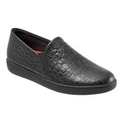 Women's Trotters Americana Slip-On Black Croc