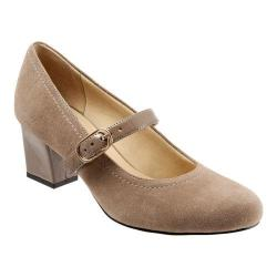 Women's Trotters Candice Mary Jane Dark Nude Suede/Patent 19874204