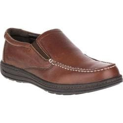 Men's Hush Puppies Vicar Victory Moc Toe Shoe Dark Brown Leather