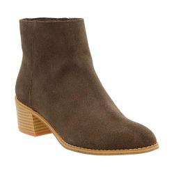 Women's Clarks Breccan Myth Ankle Boot Khaki Suede