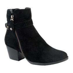 Women's Earth Royal Ankle Boot Black Suede